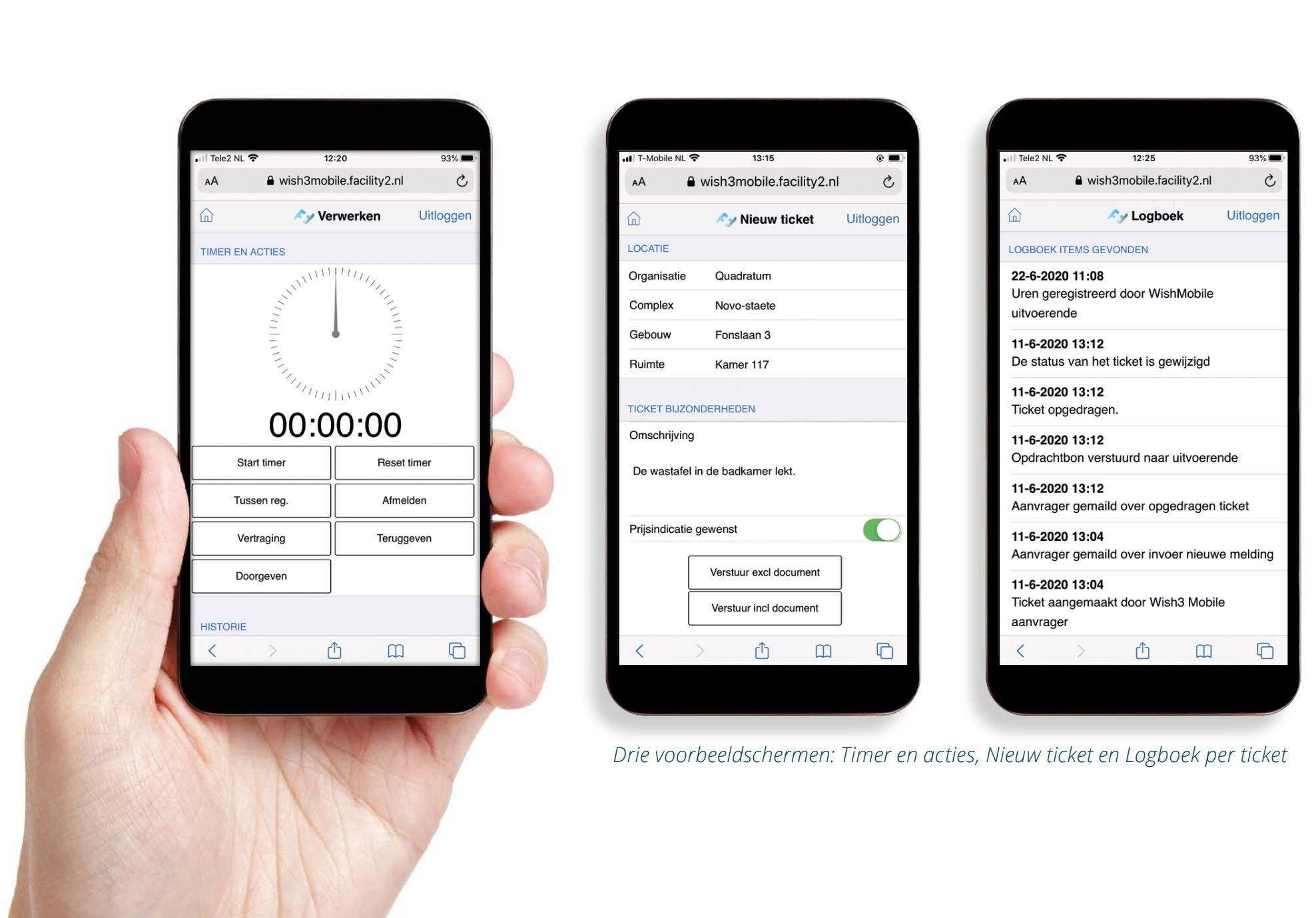 Software WISH Mobile meldingenbeheer met self service portal