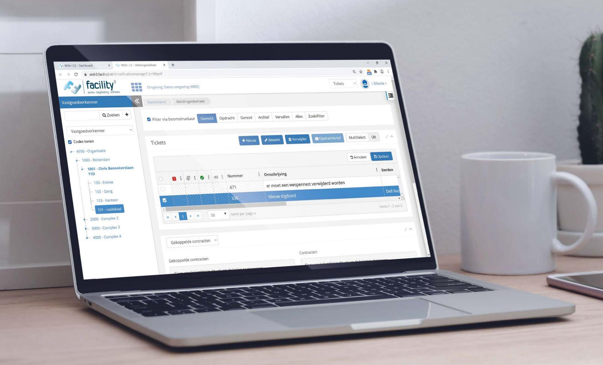 Software WISH Meldingenbeheer ticketsysteem vastgoedonderhoud, storingen en reparaties